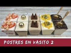 POSTRES EN VASITOS PARA SORPRENDER 2 / SIN HORNO/ El Rincón de Belén - YouTube