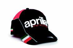 2012 baseball cap: 3D embroidery, micro-injection italian flag, mesh insert on visor, adjustable Velcro strap #black #Aprilia #black #racing #teamwear #superbike #motorbike #motorcycle #sport #cap #Italy
