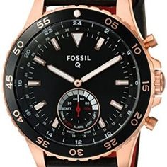 Fossil-Q-Hybrid-Smartwatch-Mens-Crewmaster-Black-Leather-FTW1141-0 #smartwatch