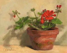 "Daily Paintworks - ""Geranium Flower and Buds"" - Original Fine Art for Sale - © Linda Jacobus Art Floral, Art Et Illustration, Illustrations, Watercolor Flowers, Watercolor Paintings, Geranium Flower, Red Geraniums, Still Life Flowers, Traditional Paintings"