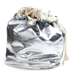 Image of Silver Christmas Sack - Reversible Silver Christmas, Drawstring Backpack, Bags, Handbags, Drawstring Backpack Tutorial, Taschen, Purse, Purses, Bag