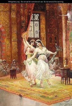 Stephan Sedlacek - Harem-Dancers. Odalisque was sexual slave in The Ottoman…