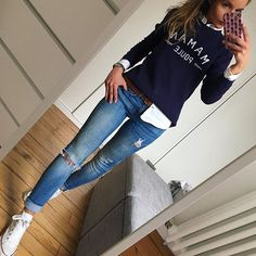 10 ième jour de couvade d - Ete Newest Hair Design Mode Outfits, Chic Outfits, Fashion Outfits, Womens Fashion, Classy Outfits, Looks Chic, Casual Looks, Cute Fall Outfits, Spring Outfits