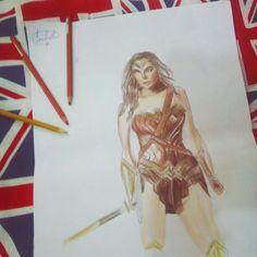 Wonder woman ❤✨finalized✅ Insta: @art.bellaa  https://www.instagram.com/p/BJ5xksogaDt/  #wonderwoman #drawing #finalized