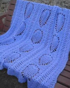 Crocheted Purple Pineapples Baby/Toddler Blanket
