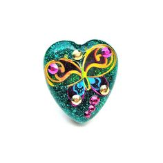 Colorful fun and sparkly butterfly ring  by sparklecityjewelry, $20.00