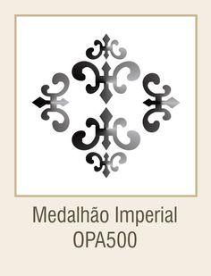 Stêncil - Medalhão Imperial(10x10)