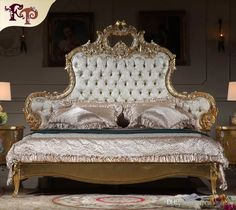 Italian Luxury Bed - Antique Royalty Bedroom Furniture - Solid Wood Carved Furniture with Gold Leaf Gilding French Furniture Antique Furntiure Classic Bedroom Furniture Online with $4430.92/Piece on Fpfurniturecn's Store | DHgate.com