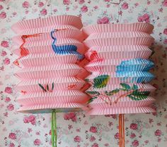 Vintage Pink Chinese Paper Lanterns with Birds and Roses Vintage Chinese Lanterns, Chinese Paper Lanterns, Vintage Lanterns, Vintage Love, Vintage Pink, Vintage Decor, Traditional Lanterns, Vintage Wreath, How To Make Lanterns