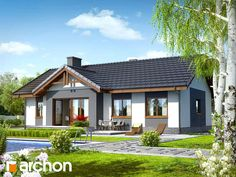 For a typical family, a house with three bedrooms is the ideal home. Here are several small house plans with three bedrooms, with one or two floors. Bungalow Renovation, Bungalow House Plans, Small House Design, Cottage Design, Future House, Casa Retro, Brick Siding, House Viewing, Cottage Plan