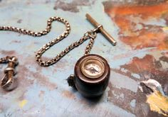 Antique Victorian Watch Chain Fob Silver by IfindUseekVintage, $55.00