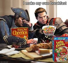 Shay Patrick Cormac and Haytham Kenway Breakfast // Assassin's Creed Rogue