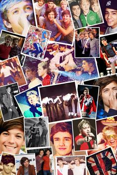 One Direction collage  would make my room awesome