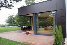 Blick auf die Terrasse - Einfamilienhaus F