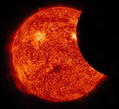 A Partial Eclipse of the Sun (From a NASA Satellite)
