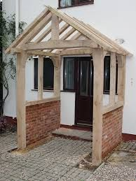 Image result for porch roofs uk Porch Roof Uk, Porch Roof Plans, Porch Gable, Porch Roof Design, Gable Roof Design, Shed With Porch, Patio Design, Porch Designs Uk, Oak Framed Buildings