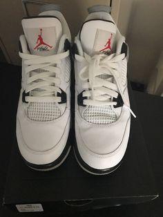 online retailer af387 d6ba4 Nike Air Jordan Retro 4 White Cement 2016 OG Nike Air branding 836016-192  Size 7   eBay