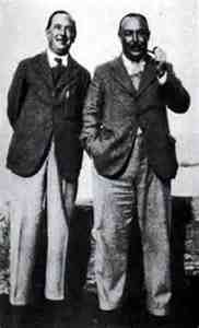 C S Lewis and his brother Warnie