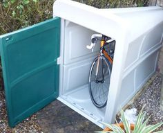 Build a shed easy and fast, garden bicycle storage box, how to ...