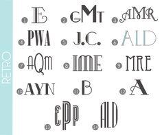 Retro Fonts for monograms