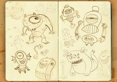 Sketches Monsters #illustration #monster #character design