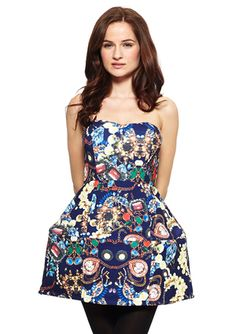 WOW COUTURE Strapless Fit-and-Flare Party Dress