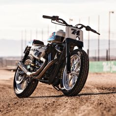 Harley Flat Tracker by Roland Sands Design - Images by Adam Fedderly #flattracker #motorcycles #motos | caferacerpasion.com