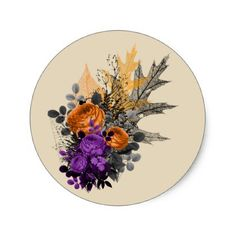 Halloween Floral Bouquet Stickers - floral gifts flower flowers gift ideas