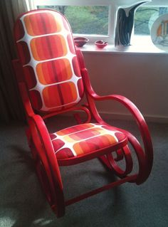 I have a bentwood rocker that I'd love to paint and reupholster.
