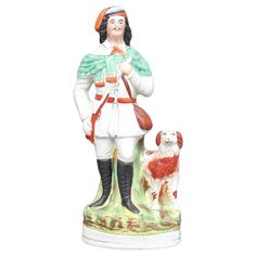 "century Staffordshire figure of Roualeyn George Gordon-Cumming, a Scottish traveller and sportsman, known as the ""lion hunter"" In good condition and has a lovely color, circa Thomas Smith, Best Wear, Modern Ceramics, 19th Century, Lion, Victorian, Antiques, French Country, Ford"