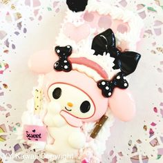 My melody case for £15! Avaialble for any phone case.  Decoden, kawaii, pink Available at https://www.etsy.com/shop/YYKawaii