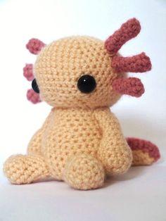 Axolotl  Amigurumi Crochet Pattern van MrFox op Etsy, $4.80