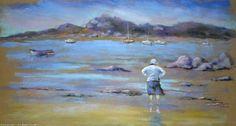 Artwork >> Breton Michel >> The sea is beautiful Watercolor Flowers, Painting Flowers, Watercolor Pencils, Linocut Prints, Art Prints, Encaustic Painting, Chalk Pastels, Illuminated Letters, Wood Engraving