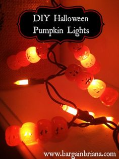 Dollar Store DIY: Pumpkin Lights #halloween #diy #decor