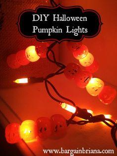 Dollar Store DIY: Pumpkin Lights #halloween #diy #decor