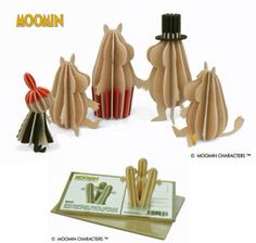 Wooden Cut-out Moomin Family The perfect present for all Moomin lovers! Designs by Anne Paso for Lovi, Finnish sustainable brand. Little My, Inspiration, Stockholm, Design, Lovers, King, Biblical Inspiration, Design Comics