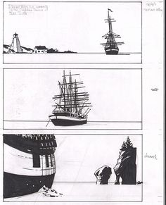 Stuart Immonen: Three panels from the sketchbook. [god, I love this guy!]