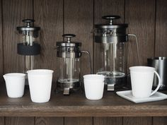 Gunmetal french-press coffee pots from Barista & Co available from @estheticliving.com