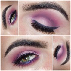 Soft pinks & purples. Lid is Mac yogurt, crease is @sugarpillmakeup dollipop & @bscbosskathy purple pigment & pressed highlight in diamonds to highlight. Lower lash line is Mac romping shadow and @lagirlcosmetics paradise purple. Lashes are @houseoflashes siren. - @theevanitydiary- #webstagram