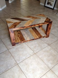 #chevron #custom #coffeetable #random #torched #handmade #wood #woodwork