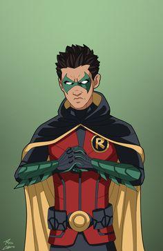Damian Wayne como el 5to Robin, y actual, así como tambien actual miembro de los Jóvenes Titanes