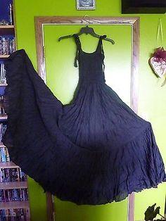 SASSIS-GOTH-GYPSY-WEDDING-MAXI-BLACK-DRESS-VAMPIRE-BOHO-PROM-FAIRIE-PRAIRIE