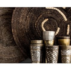 | Up close and personal | Lasi cups and makenge baskets, styled to perfection.