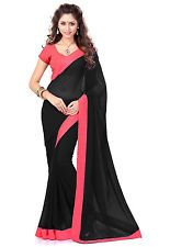 Utsav Fashion - Black Faux Georgette Saree with Blouse Price: INR 1468.5  | http://www.cbuystore.com/product/utsav-fashion-black-faux-georgette-saree-with-blouse/10146379 | United States