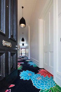 I believe this is carpet however some posts say its a Painted floor. It would also make an amazing painted floor for sure! Floor Design, House Design, Halls, Painted Floors, Painted Wood, Home And Deco, Home Fashion, Style At Home, My Dream Home