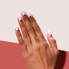 Dawn Patrol is a new moon with smaller, nail-lengthening circles. Hot Nails, Swag Nails, Hair And Nails, Nail Polish Art, Nail Art, Uñas Diy, Short Gel Nails, Minimalist Nails, Stylish Nails