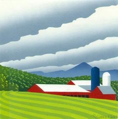 Vermont farms print by Sabra Field
