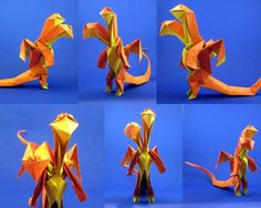 Corky and Cecil - #PaperArt of strange, funky and clever #origami animals and 'creative creatures' are by Joseph Wu. As you may know, I feature a fair amount of paper art over here at Paper Art Love, so I hope you'll enjoy these too. #folding #paperarts #colorpaper