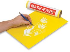 Screen printing tutorial with Scratch-Art Mask-Ease. Gotta try some of this!