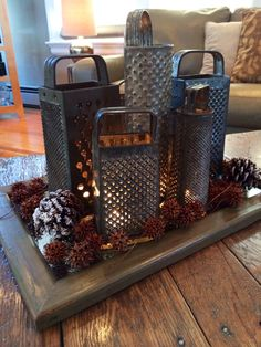 Cheese Grater Centerpiece